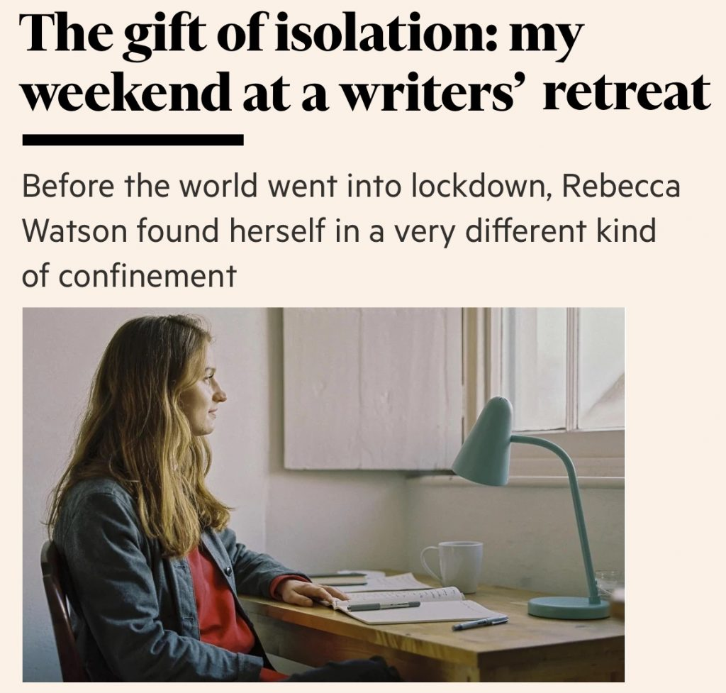 The gift of isolation: my weekend at a wrtiers' retreat
